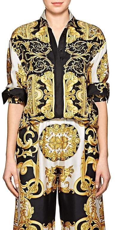 73057cd68fc73 Versace Women s Baroque-Print Twill Blouse