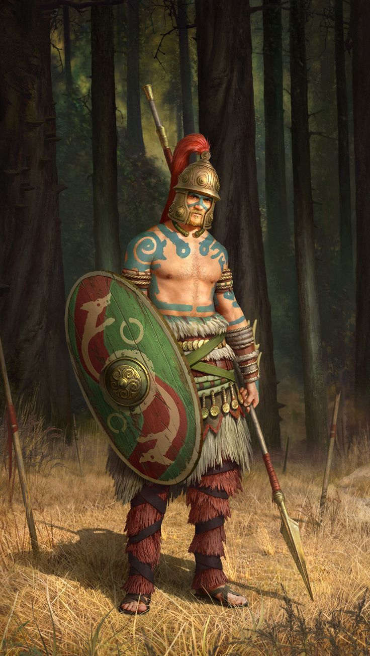 Celtic warrior, 1st century BCE