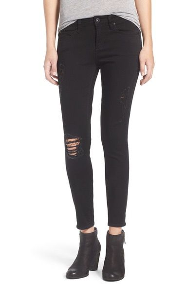 Articles of Society 'Sarah' Skinny Jeans (Black Cast) available at #Nordstrom