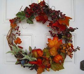 リース 秋 ハンドメイド Paper Crafts, Diy Crafts, Creative Gifts, Craft Gifts, Grapevine Wreath, Diy Tutorial, Floral Wreath, Wreaths, Halloween