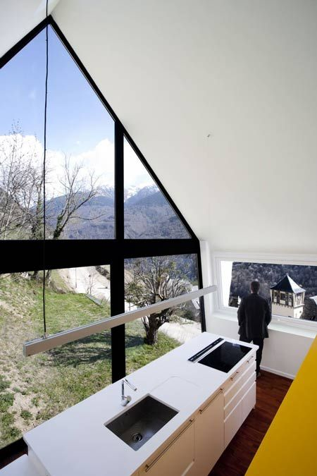 House in the Pyrenees by Cadaval & Solà-Morales - Dezeen: Architects, House Design, Solà Morals, The View, Dreams House, Kitchens Lights, Modern Kitchens, Mountain House, Stones House