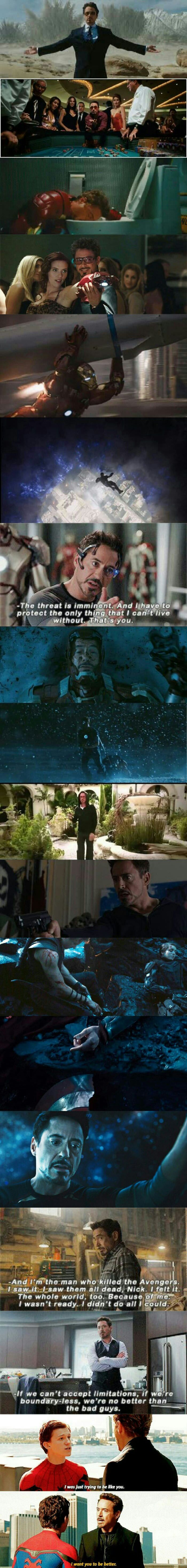 Tony Stark's character development