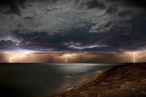 My first night in Broome I had to camp on Cable Beach. Lighting cracked everywhere, it was absolutely ferocious. It was the wet season and it was magnificent. I've never left since. #ANWCharacters