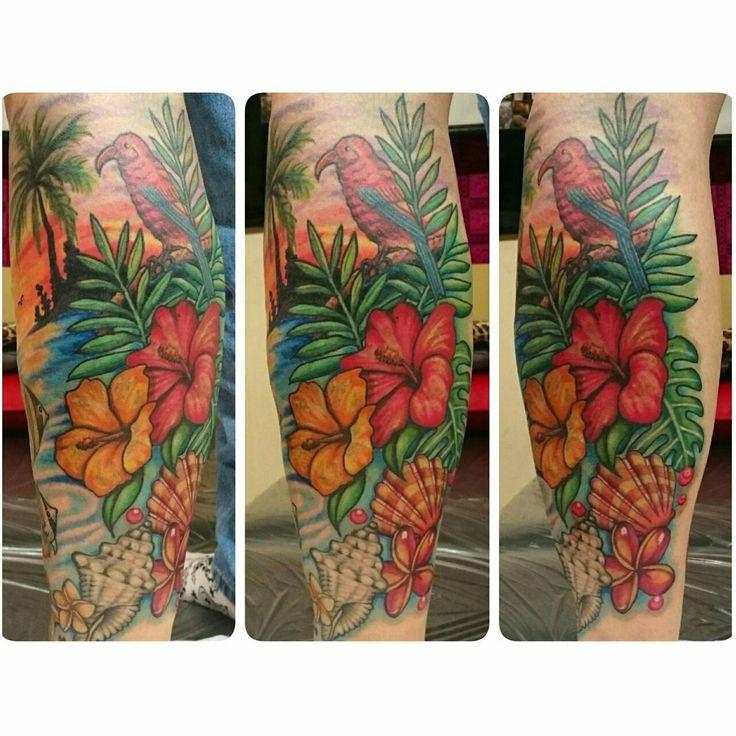 #SkinEvolutionTattoo #KONOMI #konomiangel #tattoo #Hawaiian #iiwi #palmtree #hibiscus #purumeria #shell #タトゥー #ハイビスカス #プルメリア #ヤシの木