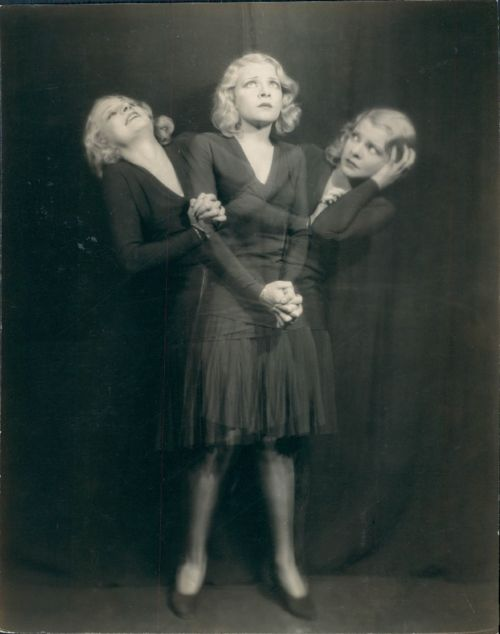 "Though I have no idea who the model or photographer is, I would have to call this photo ""Ghost Triplets of the 1920s."" What would you call it?"