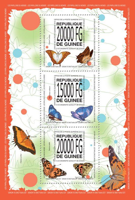 GU 13519 aButterflies, (Charaxes varanes, Hypolimnas salmacis, Vanessa cardui).