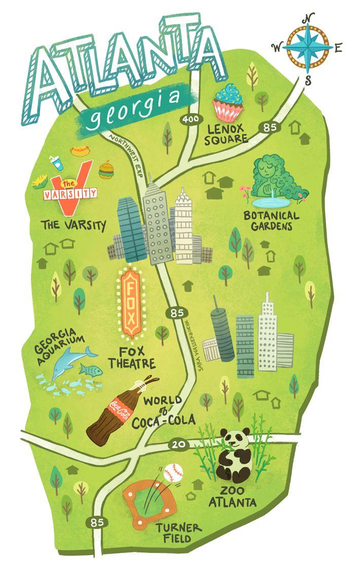 Best  Atlanta Usa Map Ideas On Pinterest - Georgia usa airports map