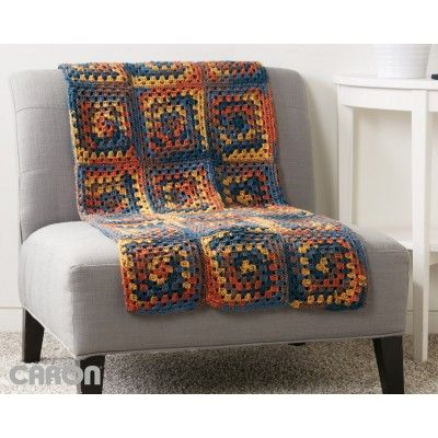 Square Deal Blanket: FREE easy level crochet pattern