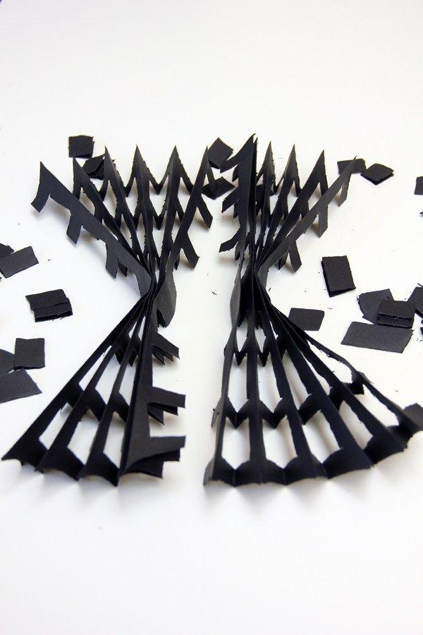 DIY Paper Spiderweb Step 5