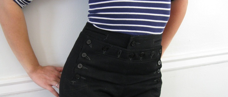 13 button navy surplus loved wearing these in the winter.  You could pick them up for 5.00 at army surplus in the 60s.