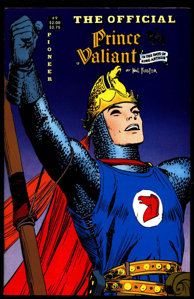 Official PRINCE VALIANT #9 Hal Harold R. Foster King Arthur's Round Table Camelot Comic Book Newspaper Funnies Reprints Pioneer Comics