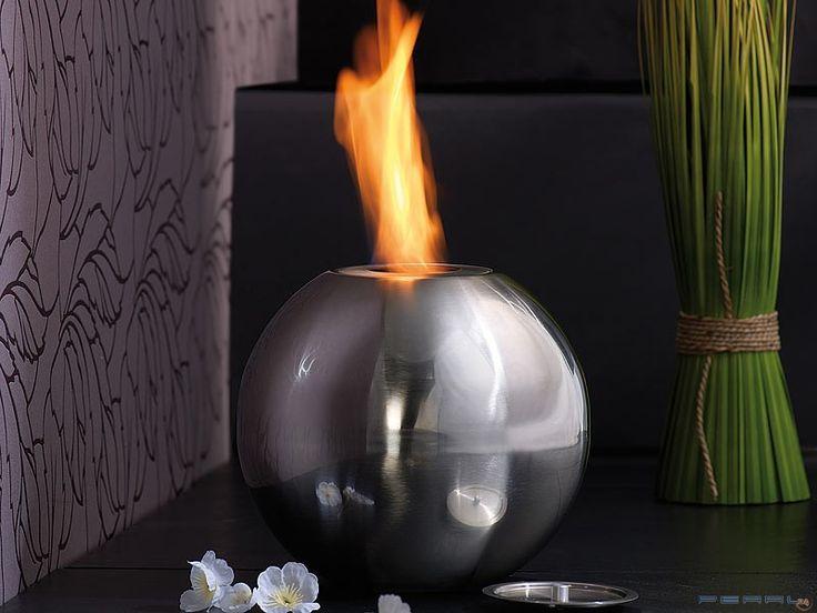 Odkryj niezwykłą atmosferę, jaką wprowadzi do Twojego domu lub ogrodu efektowna kula ognia!  #dom #ciepło #biokominek