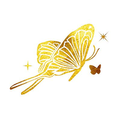 Temporary Tattoo Butterfly 24K Yellow Gold from www.kay.com Simply Awesome!