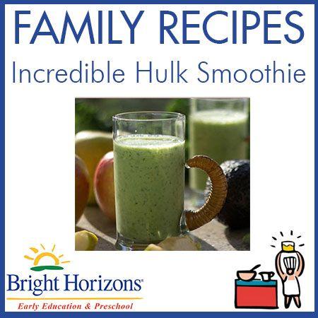 Family Kid-Friendly Recipes: Incredible Hulk Power Smoothie