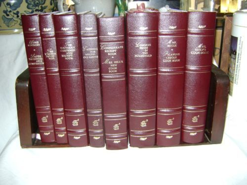 Antique American Cookbook Complete Set of 8 Oxmoor House 1984 Leather Gilt | eBay