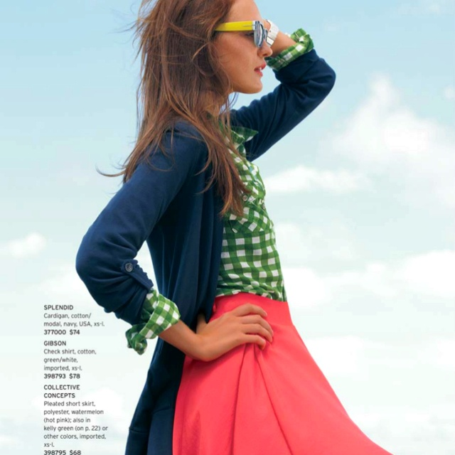 From the Nordstrom catalog. I love this pairing.