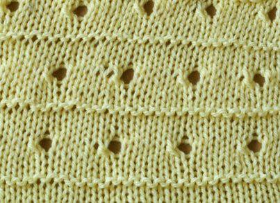 Knitting With Eyelet Lace Patterns : Knit stitch pattern - lace eyelet stripe Knitting - Lace & Eyelet S?