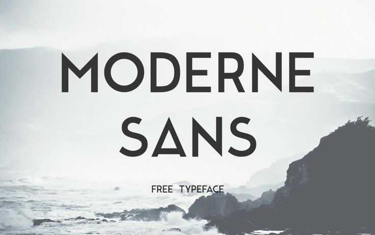 Шрифт Modern Sans бесплатно на seedraft.ru