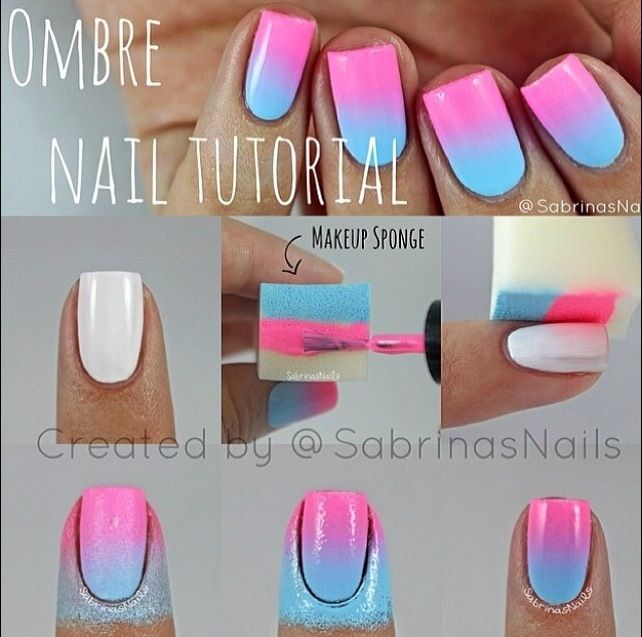How to do ombre nail designs!   Nails<3   Pinterest   Ombre ...