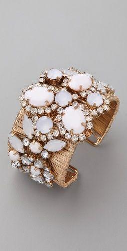 Adia Kibur Acrylic & Crystal Stone Cuff