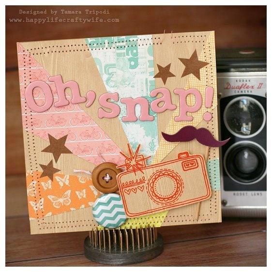 Oh, snap! Card designed by Tamara Tripodi - www.happylifecraftywife.com: Scrapbook Ideas, Scrapbook Cards, Cardmaking Galleries, Card Designed, Card Ideas, Cards Cards, Diy Projects, Cards Handmade