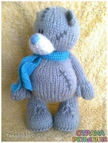 Мишка Тедди — вязание спицами, описание схем - Игрушки - Рукоделие и творчество…