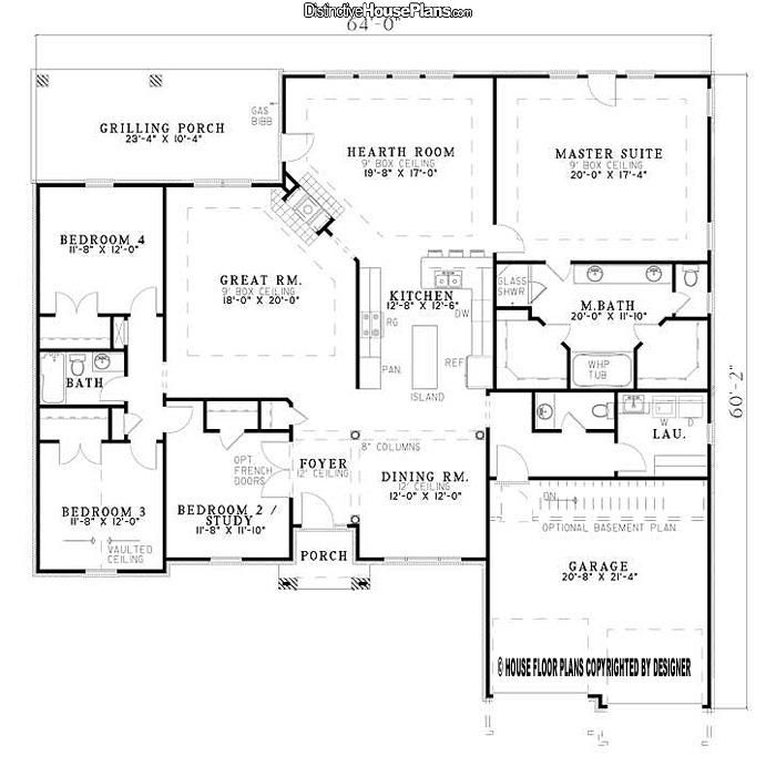 House Plan #026071 - Country Club Drive - Distinctive House Plans. LOVE tHIS PLAN!