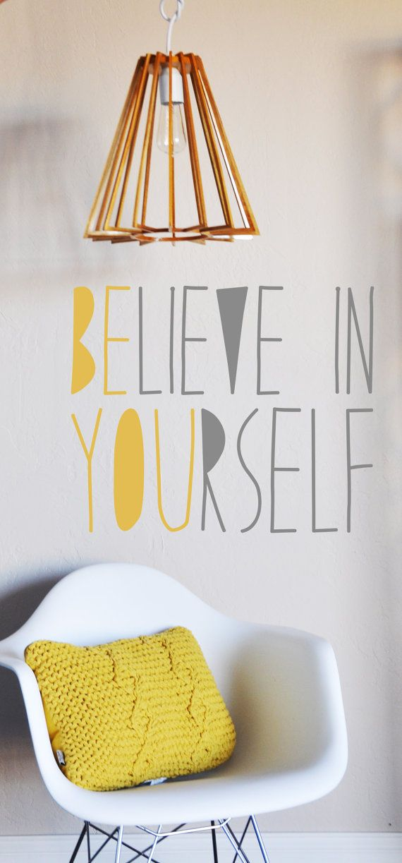 Believe In Yourself WALL DECAL by TheLovelyWall on Etsy