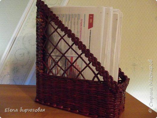 Поделка изделие Плетение Мои первые плетушки Бумага газетная фото 5