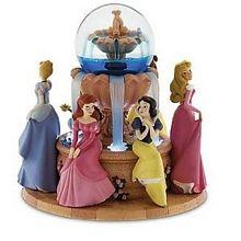 Pretty princesses by the fountain