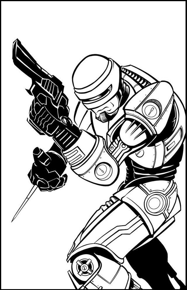 Pin By Vickie Schulte On Colouring Coloring Pages Robocop Superhero Coloring