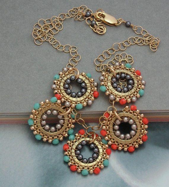 I just love love love her work! cathycortezstudio on Etsy, $98.00Fabulous Jewelry, Beautiful Jewelry, Etsy, Charms, Pendants Necklaces, Beads Jewelry, Beadwork Pendants, 9800, 98 00