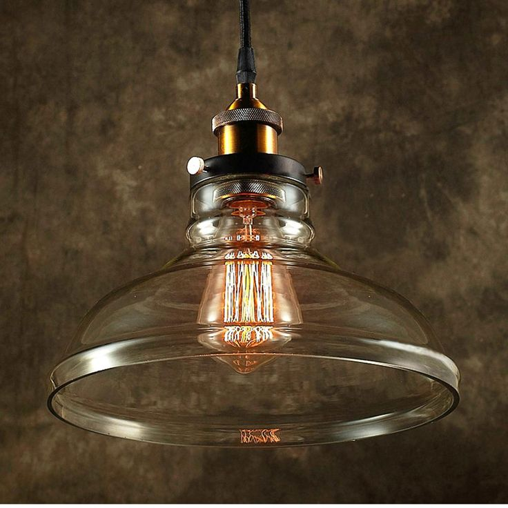 null Edison Esmie Collection 1-Light Black Clear Glass Indoor Pendant