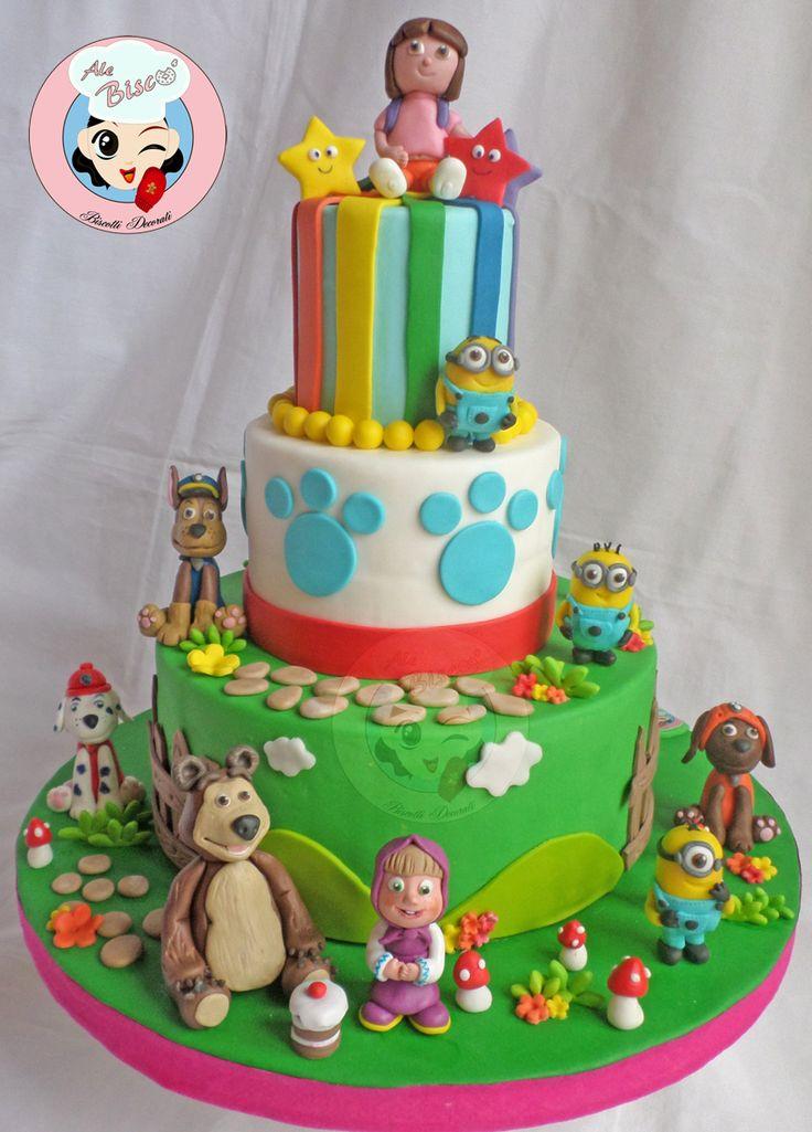 Oltre fantastiche idee su torte cartoni animati
