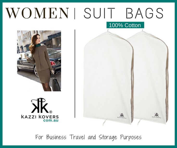 Women | Suit Bags. Made from 100% Cotton. Ideal for home, storage and travel purposes.