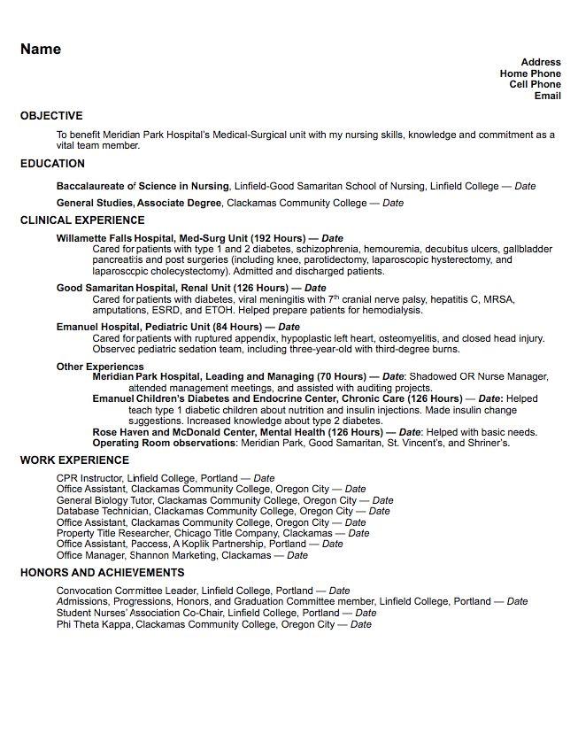 925 best Example Resume CV images – Med Surg Resume
