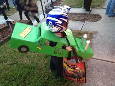 Demolition derby Halloween costume