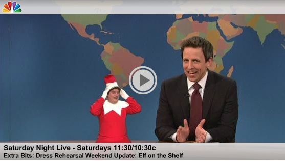 Elf on the Shelf on SNL (Unaired Skit) #elfontheshelf: Saturday Night Live, Elf Shenanigans, Shelf Addiction, Shelf Tradition, Snl Video, Elfontheshelf, Shelf Ideas, Elf On The Shelf