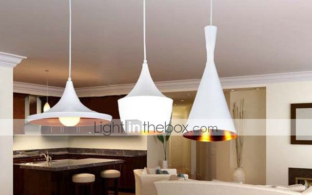 Max 60W Painting Metal Pendant Lights Bedroom / Dining Room 2016 – $116.99