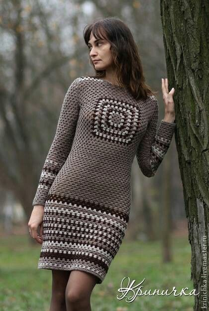 #Crochet #Dress (Vestido) on a Portuguese site