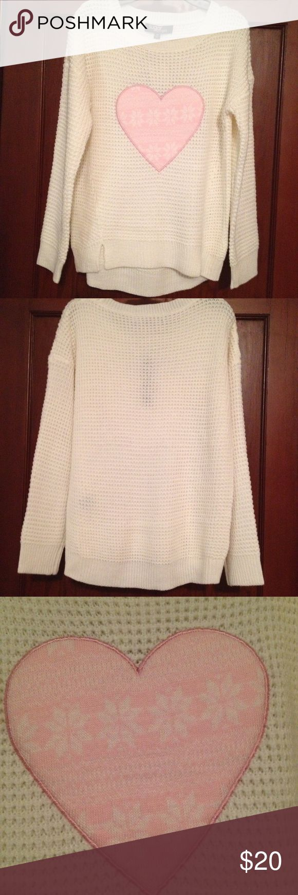 """Girls size XL """"Sugar Rush girls"""" sweater. Girls sweater size XL new with tags has pink heart on front and sweater longer in back. sugar rush girls Shirts & Tops Sweaters"""