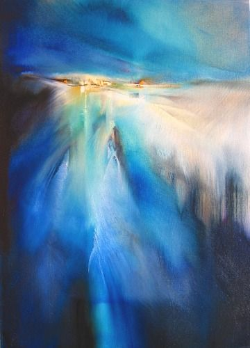 """Annette Schmucker, """"Winterabend"""" With a click on 'Send as art card', you can send this art work to your friends - for free!"""