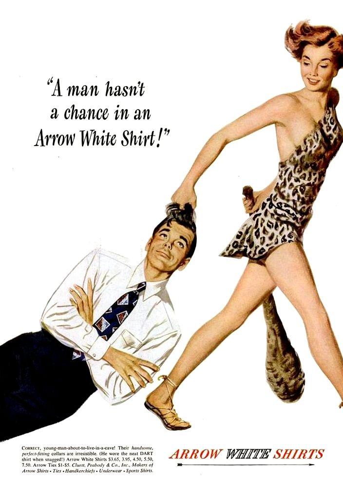 Vintage ad: Arrow men's shirts, 1949