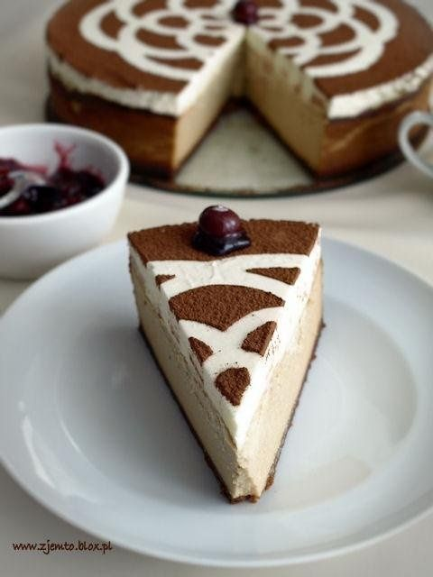 Cheesecake chałwowy *. * Recipe by clicking on the image :) #cooking #cheesecake #halvah