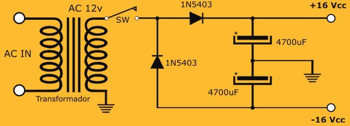 Doblador De Tension Amplificador Proyectos Electronicos Esquemas Electrónicos
