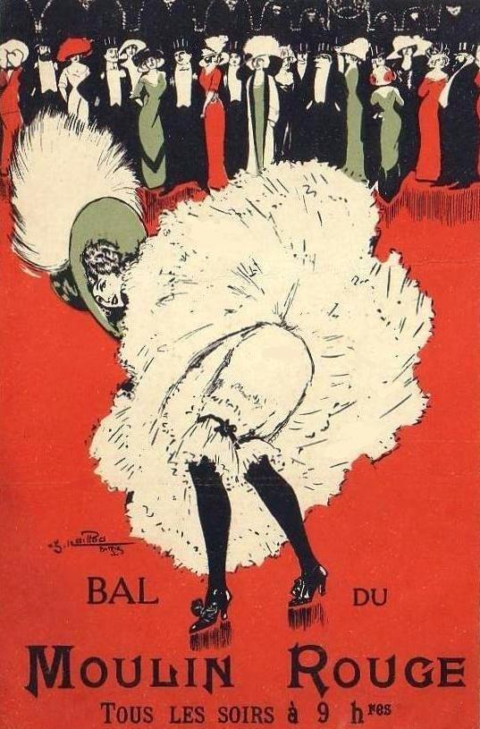"Affiche du Moulin Rouge ""Bal du Moulin Rouge"" / Moulin Rouge poster ""Bal du Moulin Rouge"""