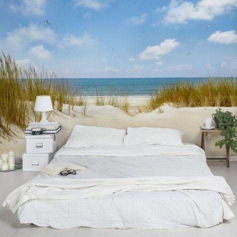 Fototapete Nordsee - Strand an der Nordsee - Vliestapete Breit