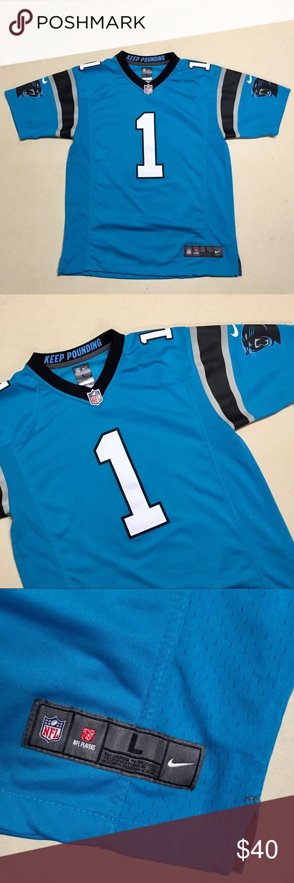 Cam Newton - Nike On Field Youth Jersey 🏈 Carolina Panthers  Cam Newton Jersey   Nike On Field  Size Youth Large  Fits a Women's Small   New without tags!!   🏈🏈🏈 Nike Shirts & Tops Tees - Short Sleeve