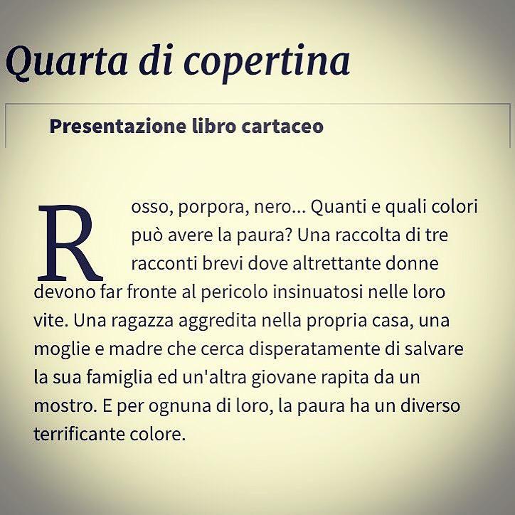 "Trama de ""I Colori Della Paura"" #IlMioEsordio2015"