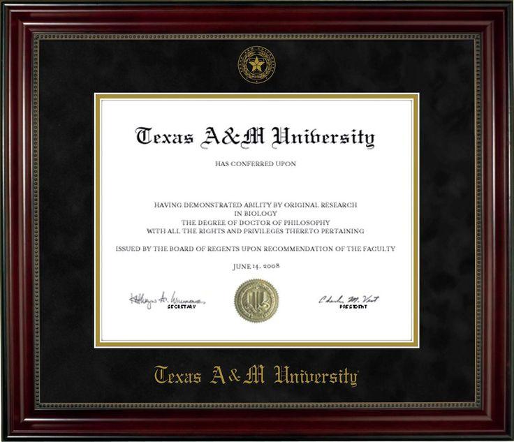 Best  Diploma Frame Ideas On   Diploma Display